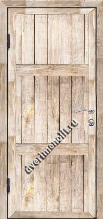 Входная металлическая дверь для дачи, модель 002-001