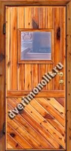 Входная металлическая дверь для дачи, модель 002-004