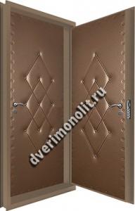 Входная металлическая двойная дверь 12-064