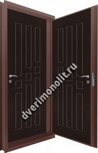 Входная металлическая двойная дверь 12-070
