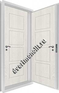 Входная металлическая двойная дверь 12-071