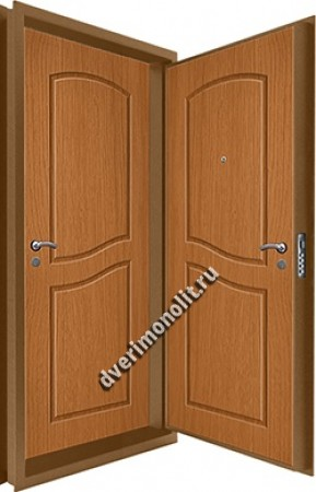 Входная металлическая двойная дверь 12-072