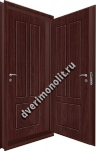 Входная металлическая двойная дверь 12-073