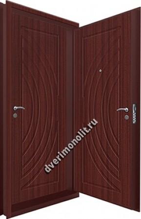 Входная металлическая двойная дверь 12-074