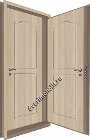 Входная металлическая двойная дверь 12-075