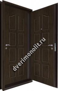 Входная металлическая двойная дверь 12-076