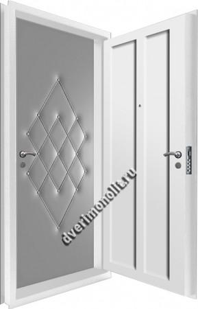 Входная металлическая двойная дверь 12-110