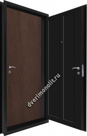 Входная металлическая двойная дверь 12-111