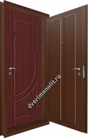 Входная металлическая двойная дверь 12-114