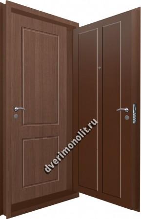 Входная металлическая двойная дверь 12-115