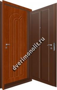 Входная металлическая двойная дверь 12-117