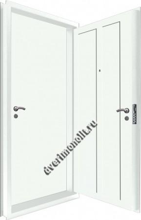Входная металлическая двойная дверь 12-118