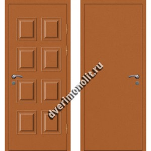 Входная металлофиленчатая дверь - 80-12