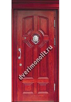 Входная металлическая дверь в коттедж. Модель 201-02