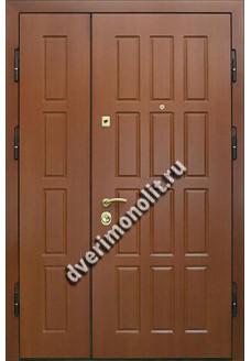 Входная двустворчатая тамбурная металлическая дверь на 2 квартиры. Модель 447-03