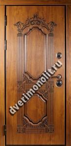 Утепленная входная металлическая дверь. Модель 50-02
