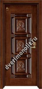 Утепленная входная металлическая дверь. Модель 50-08