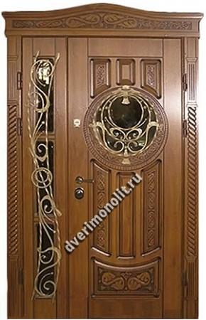 Утепленная входная металлическая дверь. Модель 50-10