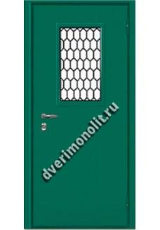 Входная тамбурная металлическая дверь в техническое помещение. Модель 629-09
