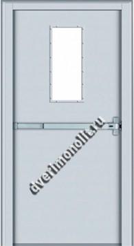 Противопожарная металлическая дверь. Модель 012-3