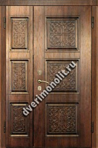 Нестандартная металлическая дверь. Модель 003-022