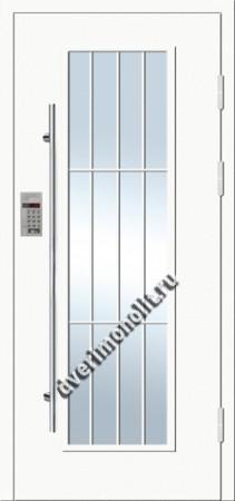 Парадная металлическая дверь с домофоном, Модель 007-001