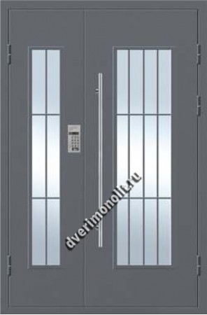 Парадная металлическая дверь с домофоном, Модель 007-003