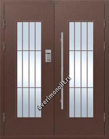 Парадная металлическая дверь с домофоном, Модель 007-004