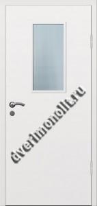 Входная металлическая дверь со стеклом 006-001