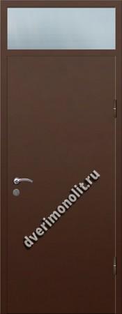 Входная металлическая дверь со стеклом 006-002