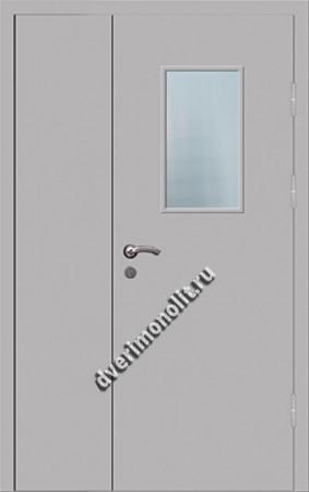 Входная металлическая дверь со стеклом 006-003