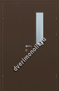 Входная металлическая дверь со стеклом 006-004