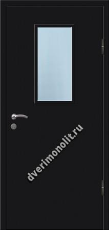 Входная металлическая дверь со стеклопакетом 006-005