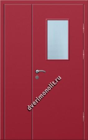 Входная металлическая дверь со стеклопакетом 006-007