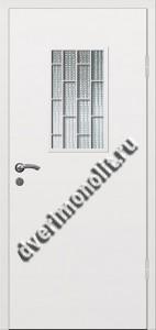 Входная металлическая дверь со стеклом и решеткой 006-009