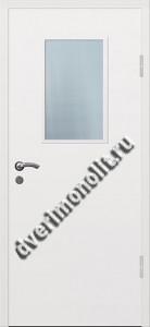 Входная металлическая тамбурная дверь со стеклом 007-001