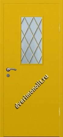 Входная тамбурная дверь со стеклом и решеткой - 008-002