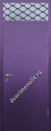 Входная тамбурная дверь со стеклом и решеткой - 008-005