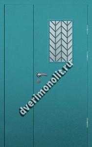 Входная тамбурная дверь со стеклом и решеткой - 008-008