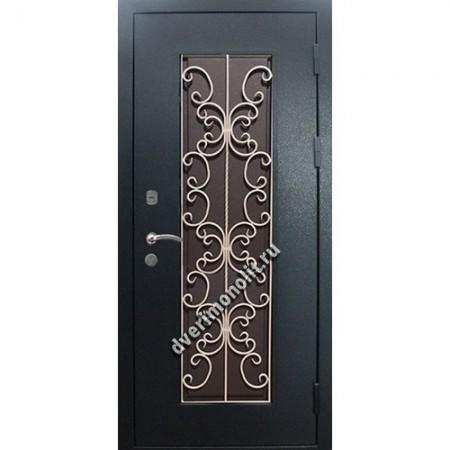 Входная металлическая утепленная дверь, модель 010-013