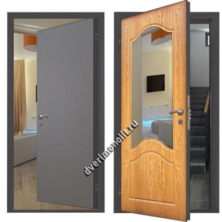 Входная металлическая дверь внутреннего открывания. Модель 007-016