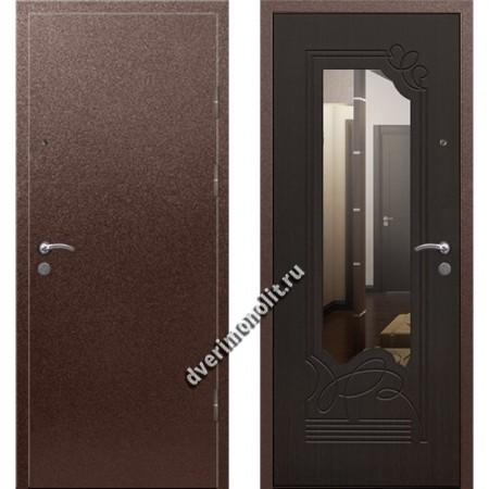 Входная премиальная дверь с зеркалом, модель 70-97