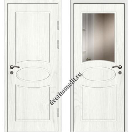 Входная премиальная дверь с зеркалом, модель 80-41