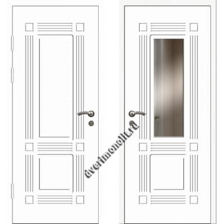 Входная премиальная дверь с зеркалом, модель 80-42