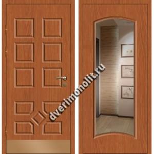Входная премиальная дверь с зеркалом, модель 80-44