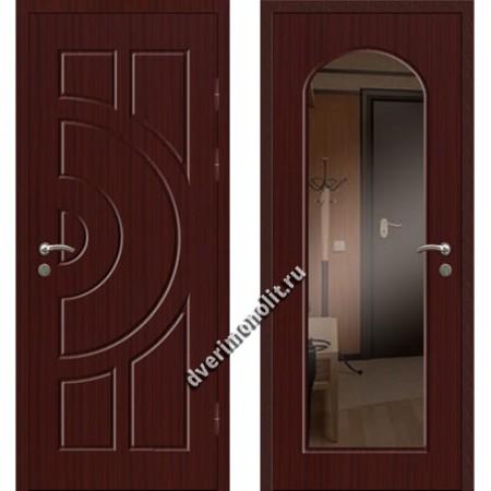 Входная премиальная дверь с зеркалом, модель 80-47