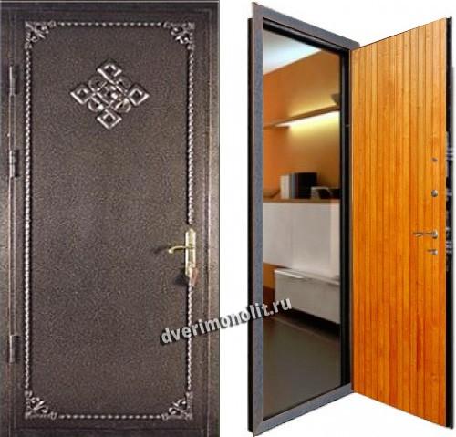 двери тамбурные металлические с ковкой входные для дома