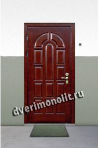 Входная металлическая дверь в загородный дом. Модель 1-01